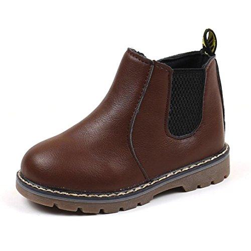 Clode® Baby Jungen Mädchen Martin Sneaker weiche Sohle Stiefel Stiefel Kinder Baby Freizeitschuhe (2-2.5T, Kaffee)