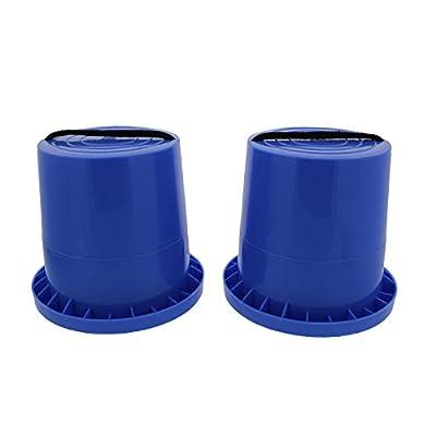 Get Out! Bucket Stilts in Blue – Kid Stilt 2-Pack (Pair) Walking Cups for Children – Kids Stepper Toy Walking Stilts: Toys & Games