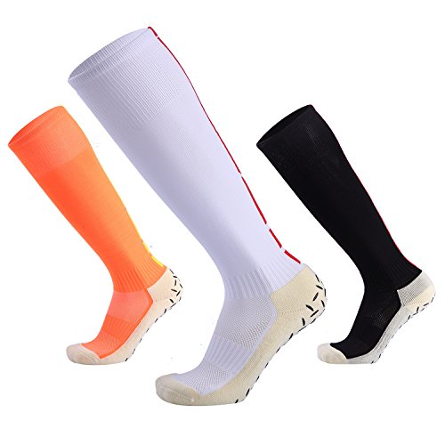 Men's Low Top Sports Socks Best Football Basketball Running Bicycle Badminton Tennis Hiking Training Travel (3 pairs) by Neaxon
