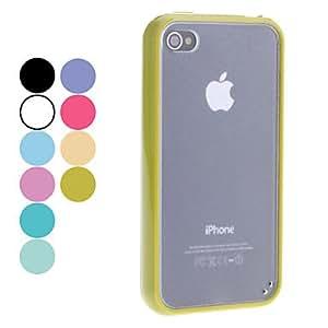 CECT STOCK Caso duro mate transparente para el iPhone 4/4S (colores surtidos) , Azul marinero