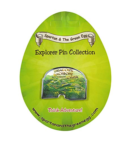 Spartan and the Green Egg Explorer Pin Series: Dragon's Backbone: Rice Terraces, China (212) ()