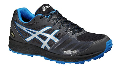 ASICS Men's Gel-Fujisetsu 2 G-TX Gore Tex Running Shoes (9.5, Drk Grey/Silver/Elec.Blue) ()