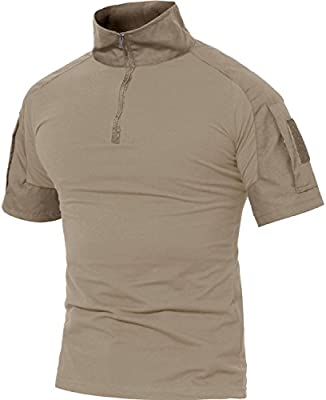 MAGCOMSEN Militar Camisetas por Hombre Al Aire Libre Durable Pescar Trabajando Top Tees Ropa de Trabajo