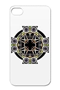 TPU Dirtproof Symbols Shapes Celtic Cathedral Cross Cathedralcross Sp Gray For Iphone 4 Cover Case