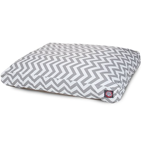 Gray Chevron Large Rectangle Indoor Outdoor Pet Dog Bed With Removable Washable Cover By Majestic Pet Products