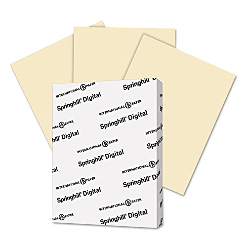Springhill 056000 Digital Vellum Bristol Color Cover 67 lb 8 1/2 x 11 Ivory 250 Sheets/Pack