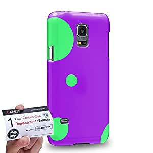 Case88 [Samsung Galaxy S5 Mini] 3D impresa Carcasa/Funda dura para & Tarjeta de garantía - Art Fashion Purple Ladybug
