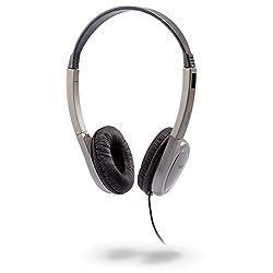 Cyber Acoustics He-200 Deluxe Pcaudio Stereo Headphone (Silver)