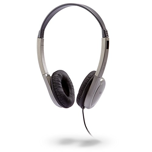 Cyber Acoustics HE-200 Deluxe PC/Audio Stereo Headphone (Silver)