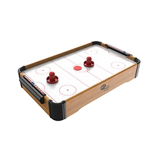 Mini Arcade Air Hockey Table- A Toy for Girls and Boys by Hey! Play! Fun Table- Top Game for Kids, Teens, and Adults- Battery-Operated (22 Inches) - Hockey Indoor Games