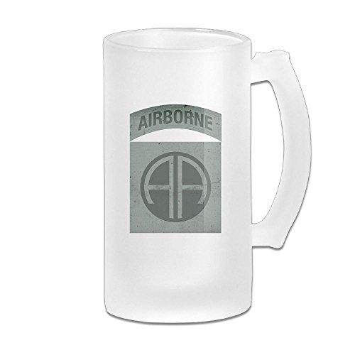 - US Army Retro 82nd Airborne Division Glass Beer Stein Wagon Mug MANUBEER Beer Mugs