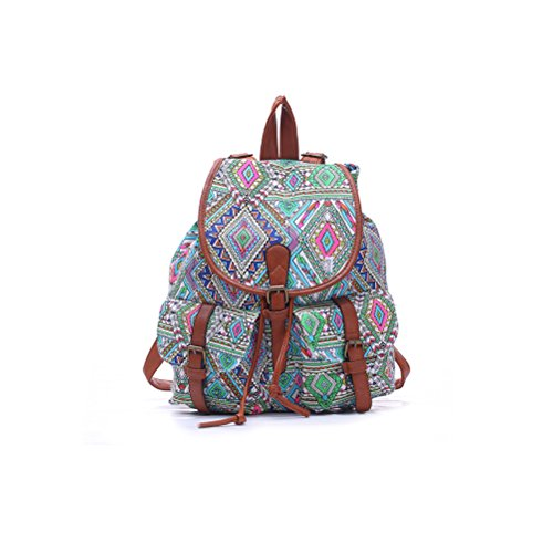 WINOMO Mädchen Damen Canvas Rucksack Rucksack School Bag lässig Tasche Daypack