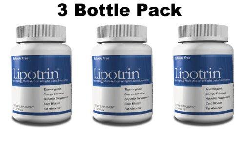 Lipotrin Carb Blocker et absorbeur de graisses (3 Pack Bouteille) 180 Capsules