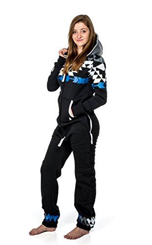 Majestic Hood Athletic (Sleep Warrior Blue - Adult Footie Pajamas - Adult Onesies - Unisex)