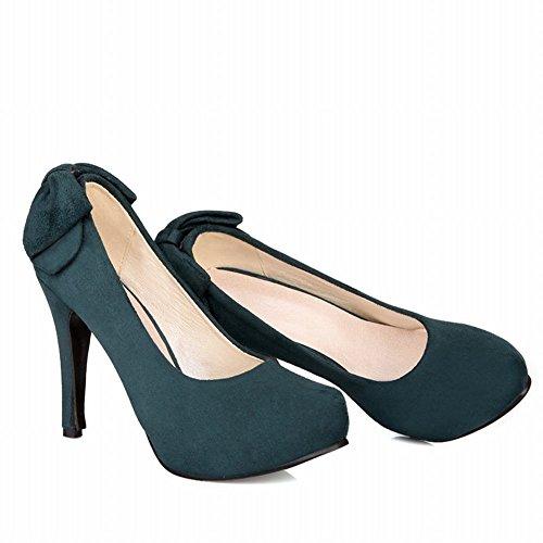 Stiletto Court Shoes Platform Green Shine heel Womens Dark High Show Sexy qOX8048w