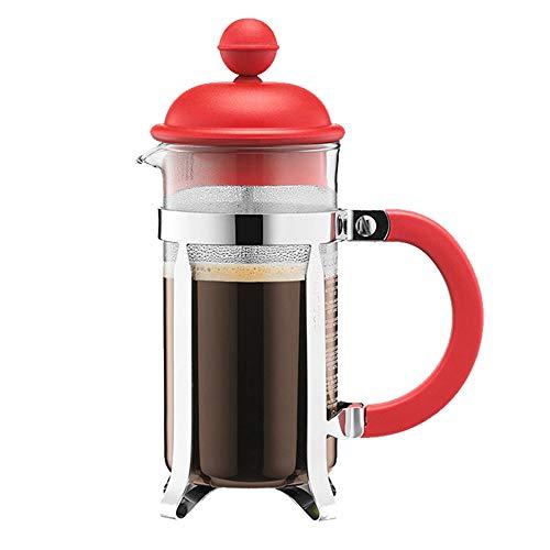 Guanxue Cafetera De émbolo Simples de la casa Prensa Pot hogar portátil Cafetera Mano Cafetera Filtro Copa Cafetera De…