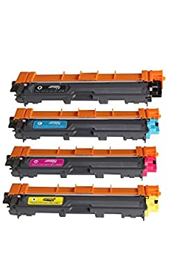Mirrored Image Compatible Toner Cartridge Replacement for Brother TN221 TN225 (1 Black, 1 Cyan, 1 Yellow, 1 Magenta, 4 Pack)