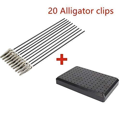 Airbrush Spray Paint Clamping/Standing Base with 20 Wire Alligator Clips for Gundam/Hobby Modeling
