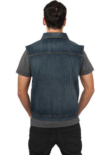 "Urban Classics Jeansweste ""Denim Vest"", Größe: L, Farbe: denimblue"