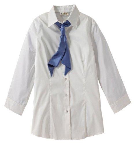 Ed Garments Broadcloth 3/4 Sleeve Maternity Stretch Shirt, WHITE, Medium ()