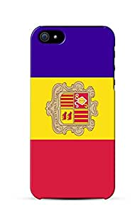 Custom iPhone Case - Flag of Andorra For Apple iPhone 4/4s Hard Back Cover Case