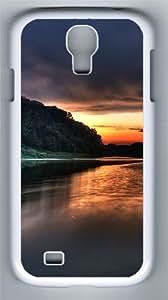 lake sky Custom Samsung Galaxy S4 I9500 Case Cover ¨C Polycarbonate ¨C White