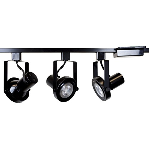 Direct-Lighting 3 lights PAR30 Short Neck Gimbal Ring Track Lighting Kit HT-50005-3-BK-WBULB (Bulbs Included)