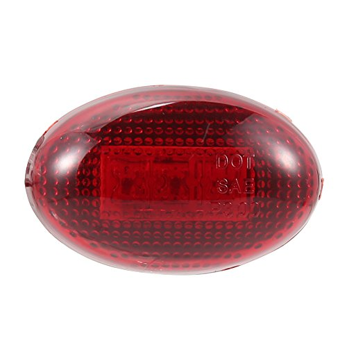 Meiyiu Red and Amber 1999-2010 Ford F350 Side Fender Marker Light 3LED 12V Fender Dually Marker Bed LED Light Kit Red by Meiyiu