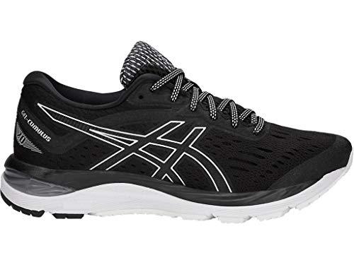 ASICS Women's Gel-Cumulus 20 Running Shoes, 8.5M, Black/White