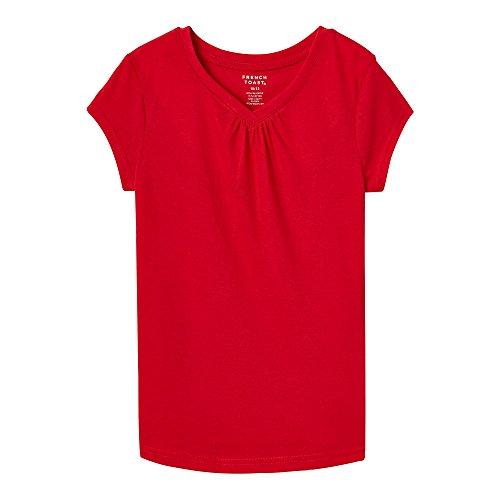 Big Short Sleeve V-Neck T-Shirt, Red, M (7/8) ()