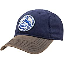 Official Colt Firearms Baseball Cap Blue Canvas with White Colt Logo Patch Craig