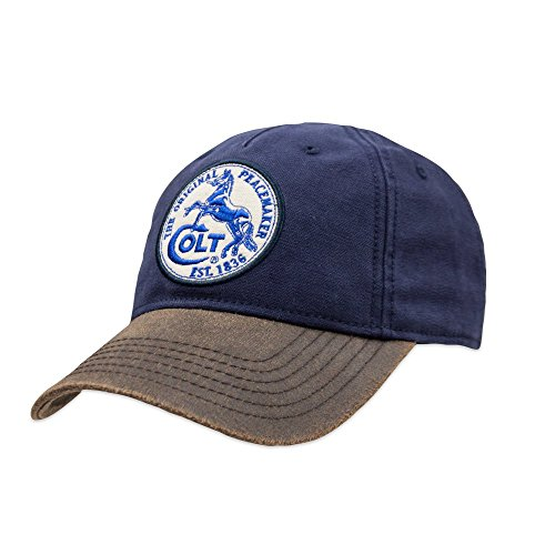 - Official Colt Firearms Baseball Cap Blue Canvas with White Colt Logo Patch Craig
