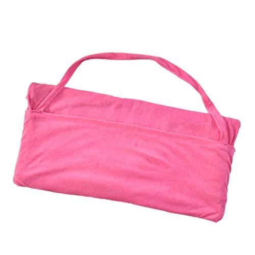(HJuyYuah Chair Beach Towel Lounge Chair Beach Towel Cover Microfiber Pool Lounge Chair Cover with Pockets Quick Drying 82.5''X27.5'' Hot Pink)