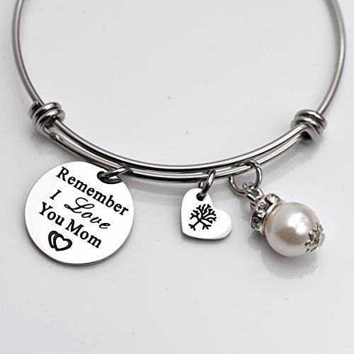 Remember I Love You Mom Bangle Bracelet (White) by LParkin (Image #1)