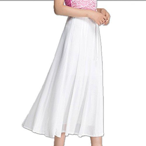 blanc Robe Mousseline Lache Jupe Femmes Robe Jupe Femmes Jupe Soie Plisse de en de Rouge Plage d't WCZ Mode de des RqtURx