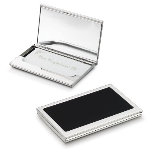 Silver Plated Business Card Holders - Visol Products V905B Evette Silver Plated Business Card Holder