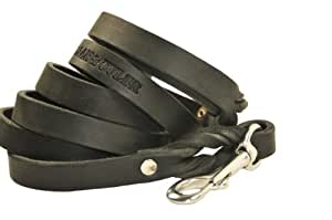 Dean and Tyler Love To Walk Dog Leash, Black 6-Feet by 3/4-Inch Width With Stainless Steel Snap Hook.