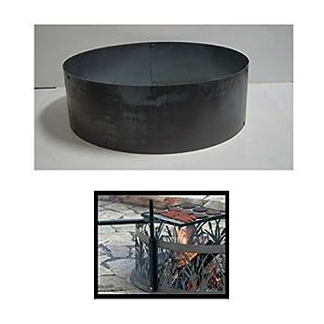 PD metales acero hoguera fuego anillo sólido diseño - sin ...
