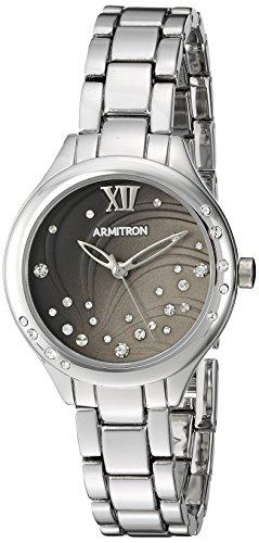 Armitron Women's Quartz Metal and Alloy Dress Watch, Color:Silver-Toned (Model: 75/5440GYSV)