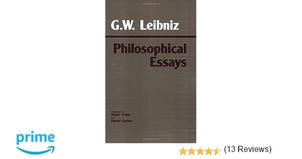 com leibniz philosophical essays hackett classics com leibniz philosophical essays hackett classics 9780872200623 g w leibniz roger ariew daniel garber books