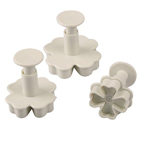 New 3pcs/set Flower Shape Cake Sugarcraft Plunger Decoration Diy Tool Mold Kitchen Accessories by Joylive (Image #5)