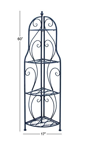 Deco 79 Metal Corner Rack, 60-Inch by 17-Inch by Deco 79 (Image #1)