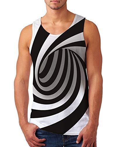 uideazone Workout Tanks for Men Graphic Tank Top Summer Sleeveless Tee Shirt Plus Size Undershirt]()