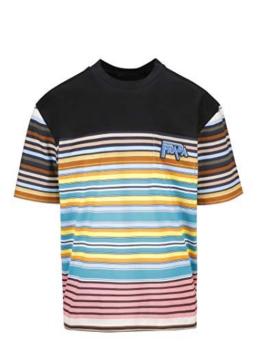 (Prada Men's Ujn5531s6nf0u69 Multicolor Cotton T-Shirt)