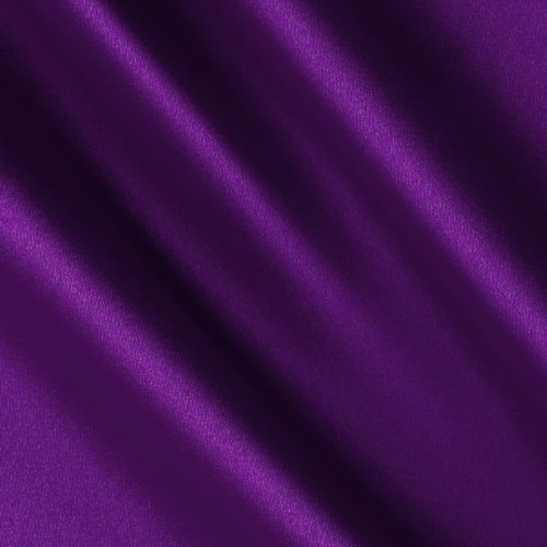 Silky Satin Charmeuse Purple Fabric By The Yard