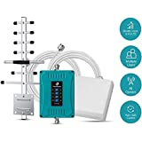 5-Band Cell Phone Signal Booster for Home and Office Use - Supports 4,500 Square Foot Area