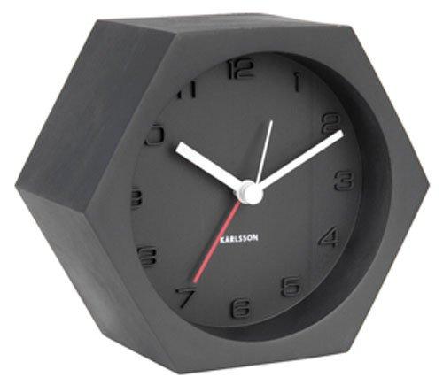 Karlsson Table Clock, Concrete, Black, One Size