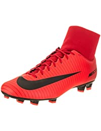 Men's Mercurial Victory VI DF FG Soccer Cleat (Red, Black)