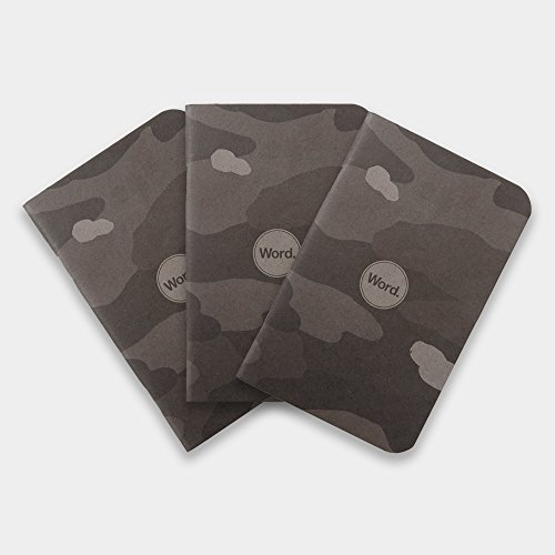 Word. Notebooks Stealth Camo - 3-Pack Small Pocket Notebooks