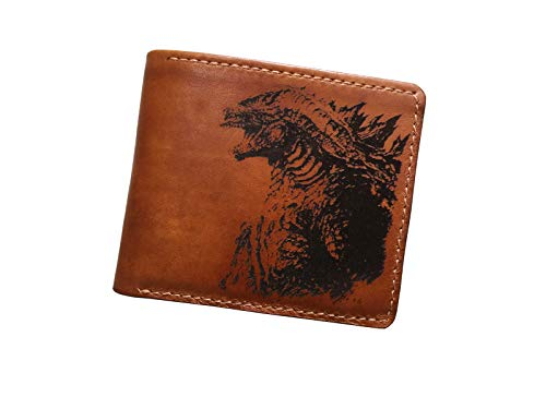 Unik4art - Godzilla King monster leather men's wallet, special present for boy friend, birthday gift, wedding anniversary gift set - 1SA